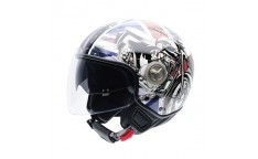 Casco NZI Center Sunvisor 3D British Bike